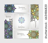 set of vector design templates. ... | Shutterstock .eps vector #663486820