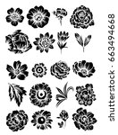 flower set | Shutterstock .eps vector #663494668