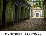 highgate cemetery  highgate ... | Shutterstock . vector #663498880