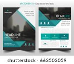 green abstract label brochure... | Shutterstock .eps vector #663503059