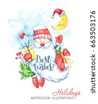 winter holidays illustration.... | Shutterstock . vector #663503176