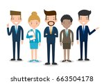 business people group diverse... | Shutterstock .eps vector #663504178