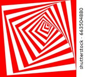 abstract twisted red and white...   Shutterstock .eps vector #663504880