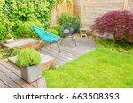 small modern patio in a... | Shutterstock . vector #663508393