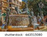Turia Fountain With Bronze...