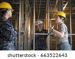 us navy sailors based in... | Shutterstock . vector #663522643