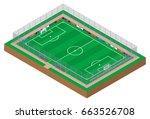 football field. 3d | Shutterstock .eps vector #663526708