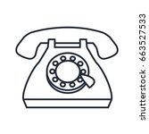 vintage telephone communication ... | Shutterstock .eps vector #663527533