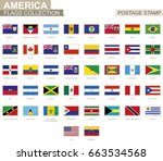 postage stamp with america... | Shutterstock .eps vector #663534568