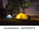 camping in the night | Shutterstock . vector #663536473