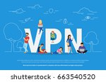 vpn concept vector illustration ... | Shutterstock .eps vector #663540520