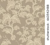floral seamless pattern. grape...   Shutterstock .eps vector #663542488