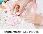 homemade attributes of...   Shutterstock . vector #663543946