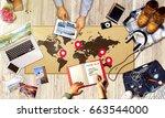 summer beach fun vacation... | Shutterstock . vector #663544000