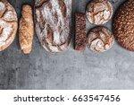 delicious freshly baked brown... | Shutterstock . vector #663547456