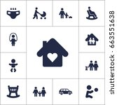 set of 13 people icons set...   Shutterstock .eps vector #663551638