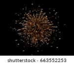 luxurious  mysterious  vintage  ... | Shutterstock . vector #663552253