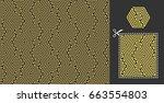 geometric pattern. seamless... | Shutterstock .eps vector #663554803