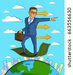 businessman character with... | Shutterstock .eps vector #663556630