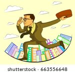 businessman character with... | Shutterstock .eps vector #663556648