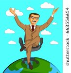 businessman character with... | Shutterstock .eps vector #663556654