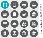 set of 16 bar icons set