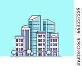 city landscape. real estate...   Shutterstock .eps vector #663557239