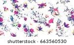 wide vintage seamless...   Shutterstock .eps vector #663560530