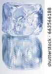 plastic blue ice cubes with... | Shutterstock . vector #663566188