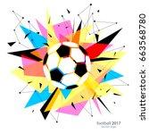 football championship poster ... | Shutterstock .eps vector #663568780