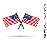 crossed flag of usa | Shutterstock .eps vector #663570634