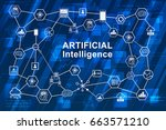 artificial intelligence  ai ... | Shutterstock .eps vector #663571210