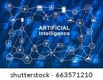 artificial intelligence  ai ... | Shutterstock .eps vector #663571210