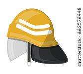 firefighter helmet. fire... | Shutterstock .eps vector #663576448