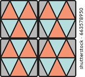 vector pattern with triangles