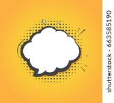 speech bubble in comic style.... | Shutterstock .eps vector #663585190