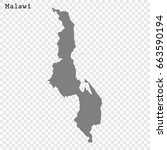 high quality map of malawi with ... | Shutterstock .eps vector #663590194