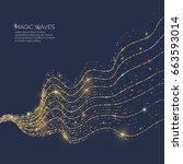 vector illustration of a magic... | Shutterstock .eps vector #663593014