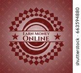 earn money online retro red... | Shutterstock .eps vector #663594880
