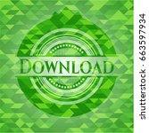 download green mosaic emblem