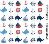 Cute Seamless Nautical Pattern...