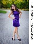 Beautiful Woman In Purple Dres...