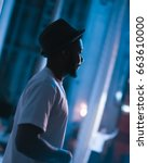 portrait of a rapper   Shutterstock . vector #663610000