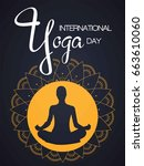 international yoga day  vector... | Shutterstock .eps vector #663610060