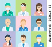 doctor profile picture  medical ... | Shutterstock .eps vector #663616468