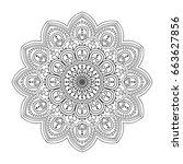 mandala. ethnic round ornament. ... | Shutterstock .eps vector #663627856