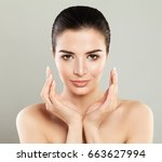 spa girl. beautiful model woman ... | Shutterstock . vector #663627994