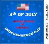 american flag in the background ... | Shutterstock .eps vector #663635380