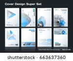 set of abstract business design ... | Shutterstock .eps vector #663637360