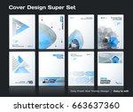 set of abstract business design ... | Shutterstock .eps vector #663637360